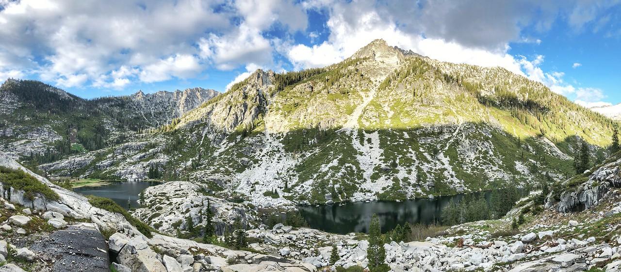 looking towards Sawtooth Mtn. 7,750ft. Trinity Alps Wilderness