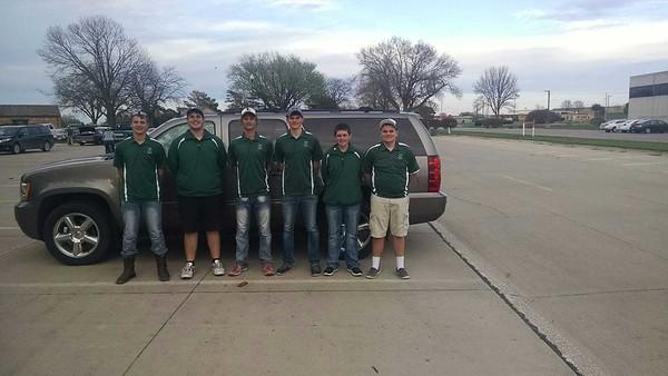 Trinity Christian boys' golf at Willow Creek 4-18-17
