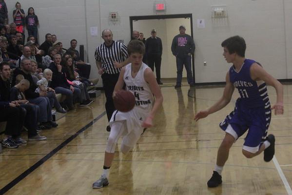 Trinity Christian girls' and boys' basketball vs. Harris-Lake Park 12-9-16