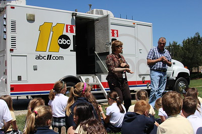 ABC11 News Truck Visit to Lower School