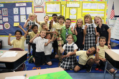 First Grade 5k Trophy Presentation