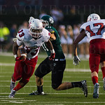 Lafayette RB Javarius Robinson (33) shed a tackle.