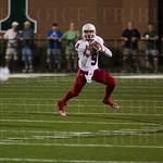 Lafayette QB Walker Wood (9) focused on his receiver.