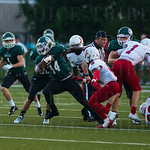 Jailen Reed (34) escaped tackles to move the ball downfield.