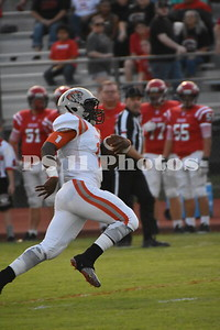 Karsten Mack heads to the endzone for a touchdown in Trinitys 49-13 win over Groveton.