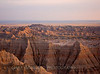 Badlands vista at Sunset April 18, 2007