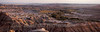 Panorama; Badlands vista at Sunset April 18, 2007