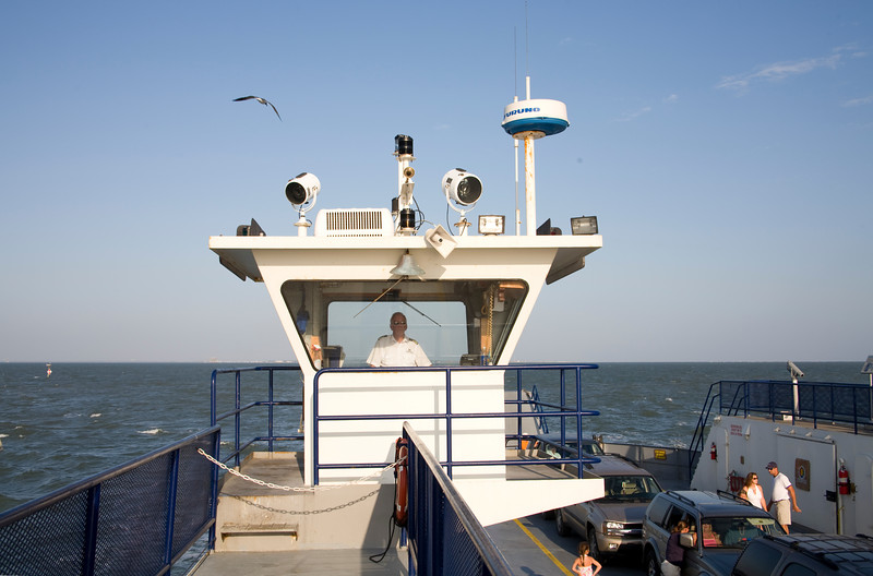 The helm of the Mobile Bay Ferry.