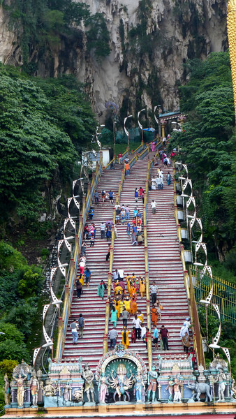 Stairs Up To Batu Cave
