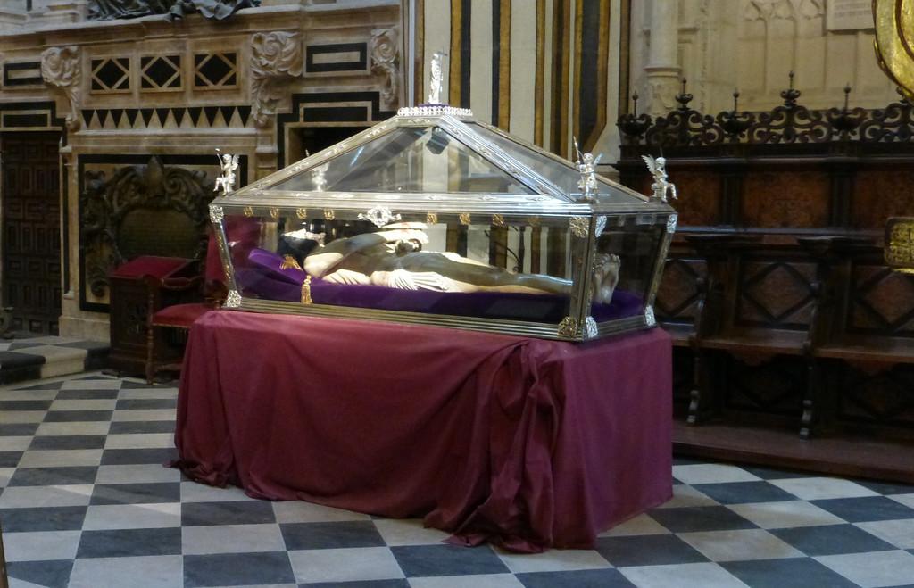 Jesus in a Glass Casket