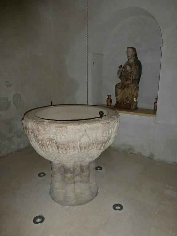 Romanesque Baptismal Font in Redecilla del Camino