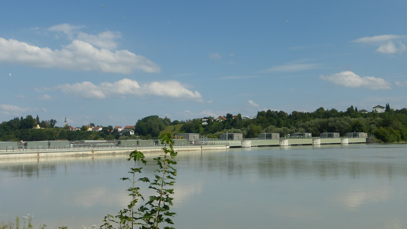 Inn River Dam with Austria on the Opposite Side