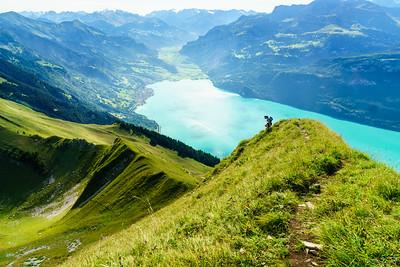 Daphnee Tuzlak above Lake Brienz in Switzerland.