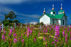 """This photograph of a Russian Orthodox church was taken in Ninilchik, Alaska (8/13).   <FONT COLOR=""""RED""""><h5>This photograph is protected by the U.S. Copyright Laws and shall not to be downloaded or reproduced by any means without the formal written permission of Ken Conger Photography.<FONT COLOR=""""RED""""></h5>"""