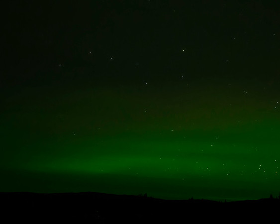 Big Dipper with Northern Lights in Denali