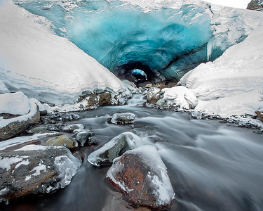 This photograph of an ice cave  was captured Skaftafell National Park, Iceland (1/16). This photograph is protected by International and U.S. Copyright Laws and shall not to be downloaded or reproduced by any means without the formal written permission of Ken Conger Photography.