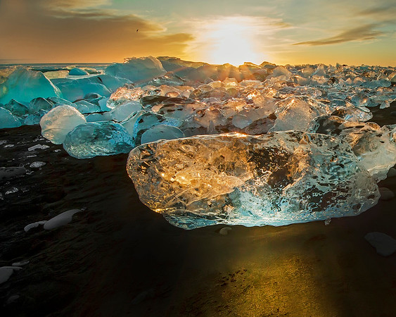 This iceberg photograph was captured on Jökulsárlón beach on the edge of Vatnajökull National Park, Iceland (1/16). This photograph is protected by International and U.S. Copyright Laws and shall not to be downloaded or reproduced by any means without the formal written permission of Ken Conger Photography.