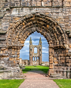 This is a photograph of St. Andrews Cathedral in St. Andrews, Scotland (5/06).