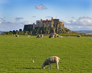 This is a photograph of Bamburgh Castle in Northumberland England (5/06).