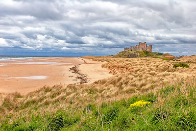 This is a photograph of Bamburgh Castle in Northumberland, England (5/06).