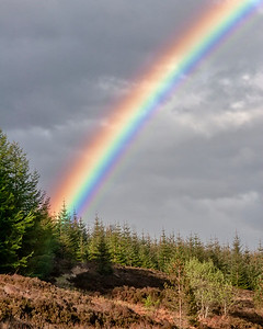 This is a photograph of a rainbow in Scotland (5/06).