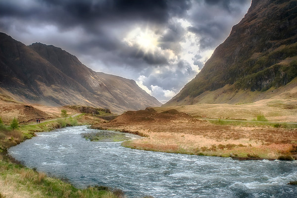 Glencoe valley in Scotland, the location of the infamous massacre of the MacDonalds in 1692 (5/06).