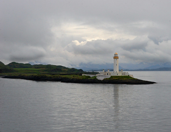 This is a photograph of the Lismore Lighthouse in Mull, Scotland (5/06).