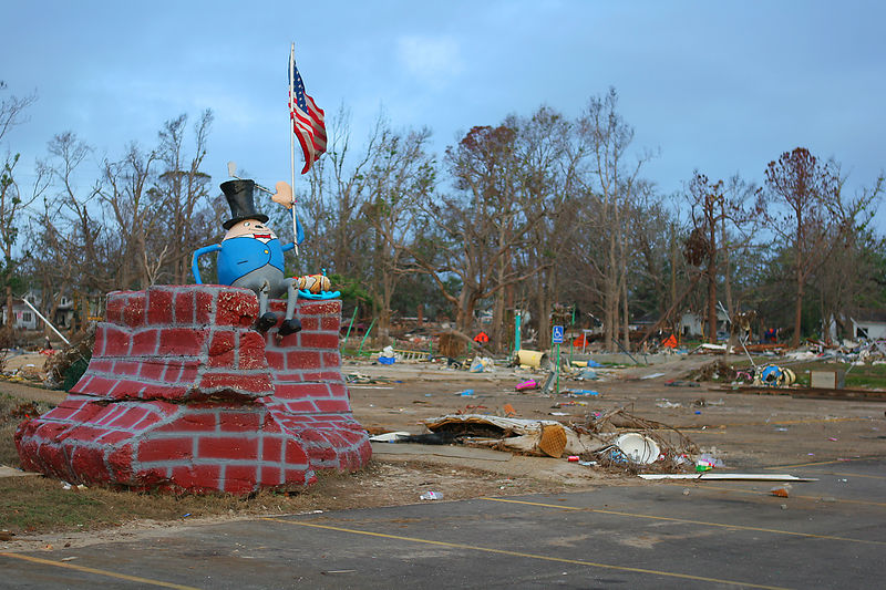 The area in the picture was once a kid's park in the Gulfport area.  Humpty Dumpty apparently survived.