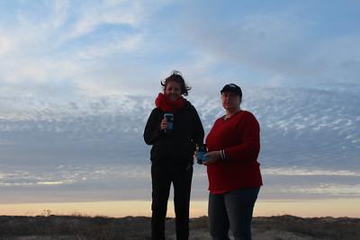 Allison and Jennifer enjoying the sunset