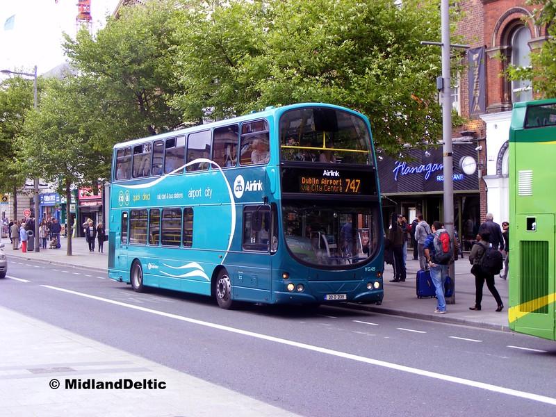 Dublin Bus VG45, O'Connell St Dublin, 06-06-2015
