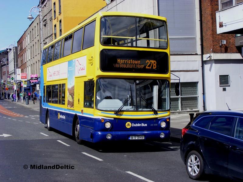Dublin Bus AX458, Eden Quay Dublin, 06-06-2015