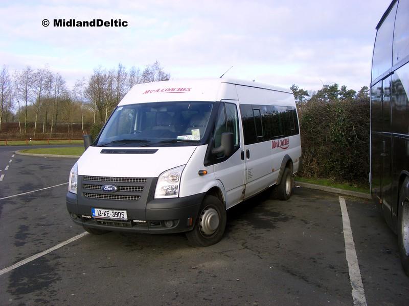 M&A Coaches 12-KE-3905, Midway Services Portlaoise, 17-02-2015