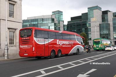 Bus Éireann SE41, Custom House Quay Dublin, 23-07-2016
