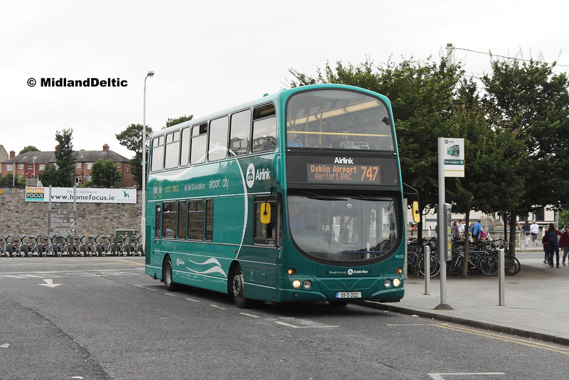Dublin Bus VG33, Heuston Station Dublin, 23-07-2016