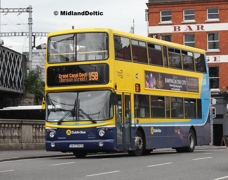 Dublin Bus AX479, Butt Bridge Dublin, 25-07-2016