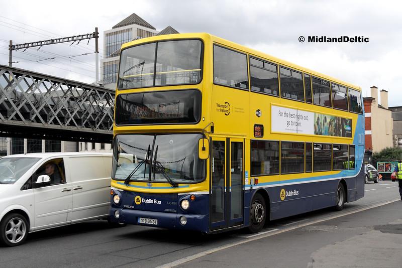 Dublin Bus AX494, Butt Bridge Dublin, 25-07-2016