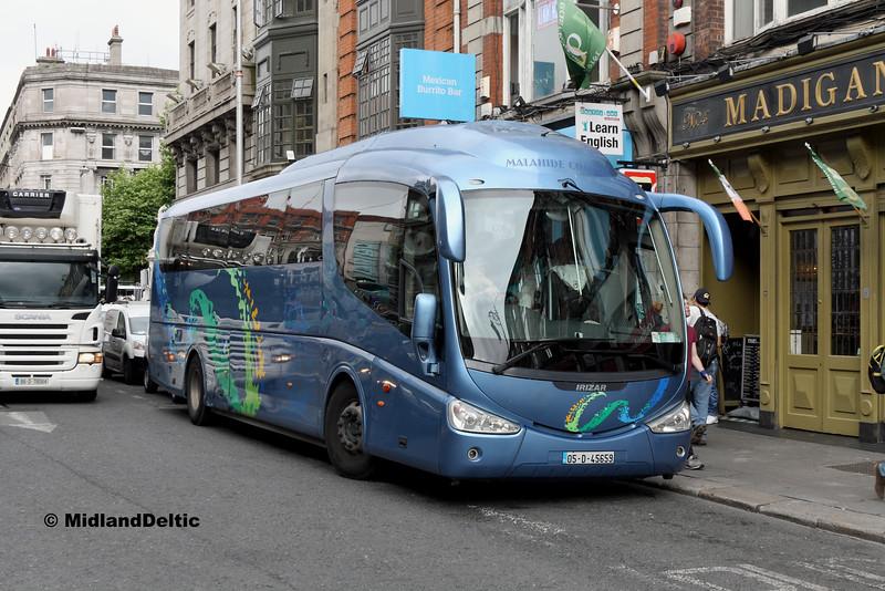Malahide Coaches 05-D-45659, Abbey St Dublin, 25-07-2016