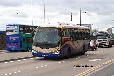 Ulsterbus 1008, East Wall Rd Dublin, 25-07-2016