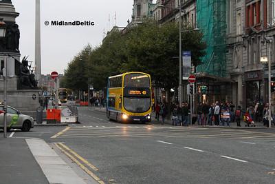 Dublin Bus GT25, O'Connell St Dublin, 31-10-2016