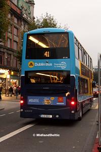 Dublin Bus GT54, O'Connell St Dublin, 31-10-2016