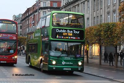 Dublin Bus AX496, O'Connell St Dublin, 31-10-2016