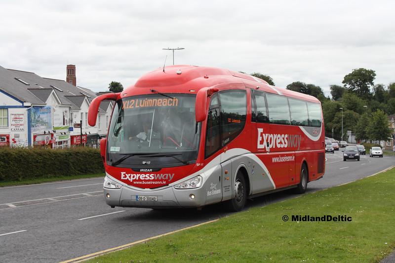 Bus Éireann SP117, James Fintan Lawlor Ave Portlaoise, 05-07-2016