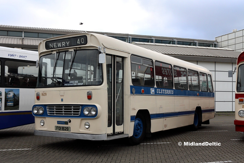 Ards Bus Preservation FOI1629, Dún Laoghaire Harbour, 28-10-2017