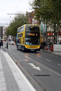 Dublin Bus EV35, O'Connell St Dublin, 28-10-2017