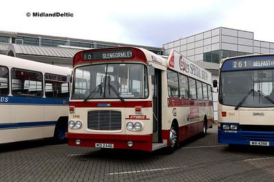 Ards Bus Preservation WOI2446, Dún Laoghaire Harbour, 28-10-2017