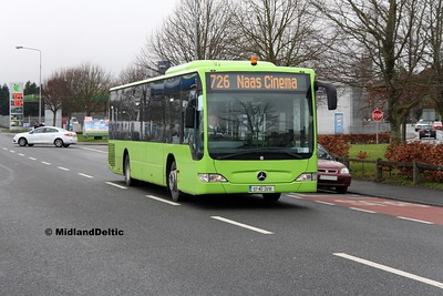 Dublin Coach 07-KE-2610, Edward St Newbridge, 17-02-2017