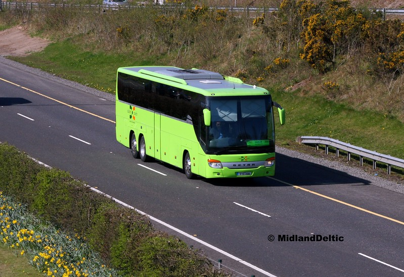 Dublin Coach 10-KE-2550, M7 Junction 17 Portlaoise, 24-03-2017