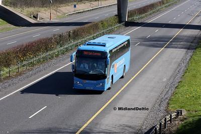 First Aircoach 152-D-8657, M7 Junction 17 Portlaoise, 24-03-2017