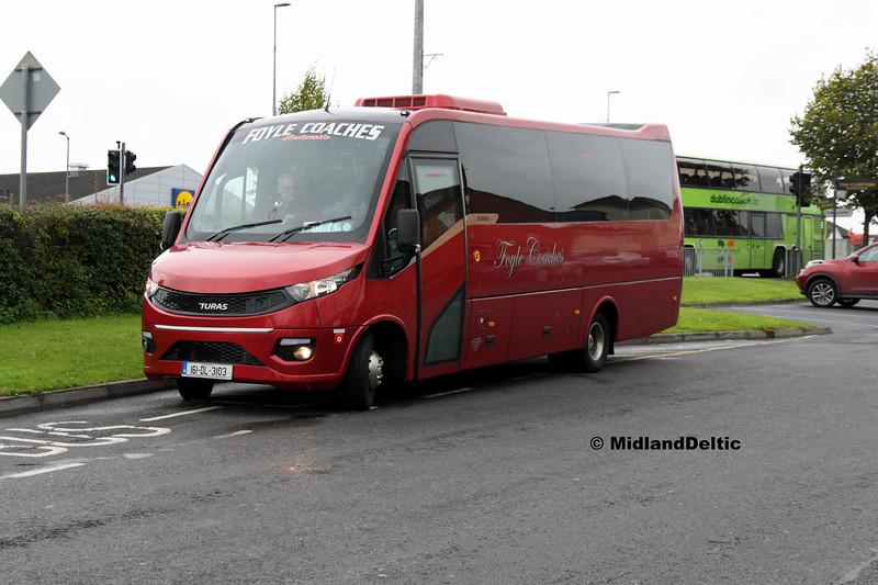 Foyle Coaches 161-DL-3103, Meehan Court Portlaoise, 04-09-2017