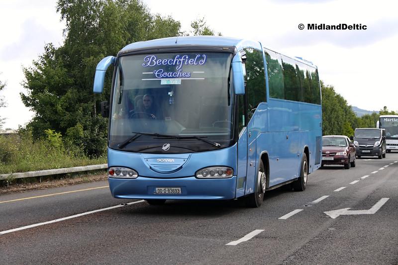 Beechfield Coaches 00-D-93693, Ballymaken Portlaoise, 01-09-2017